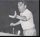 Miklos Rozsa, durante la grabación de 'Ben Hur'